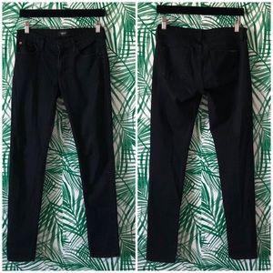 Hudson Black Colette Mid-Rise Skinny Jeans 27
